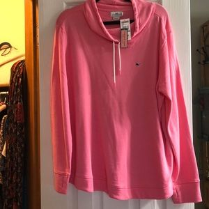 NWT Hot pink Vineyard Vines drawstring sweatshirt